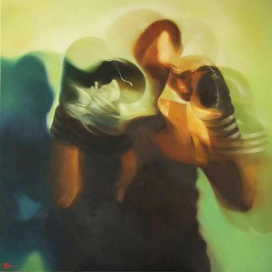 Shadow Boxing 6, 36x36 inch, 2011, Oil on Canvas