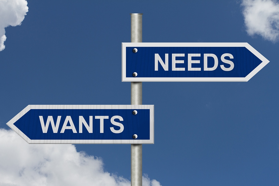 Wants Versus Needs