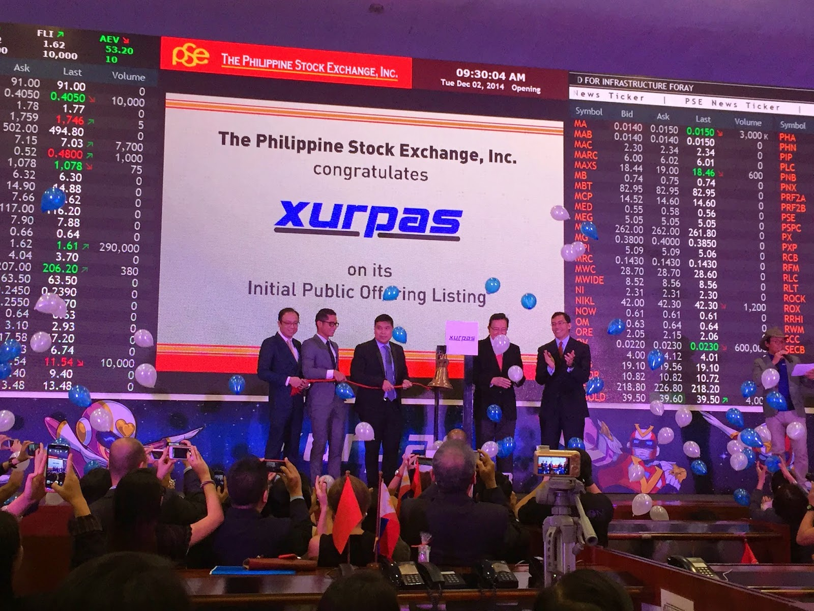 Ringing of the Bell_Xurpas IPO