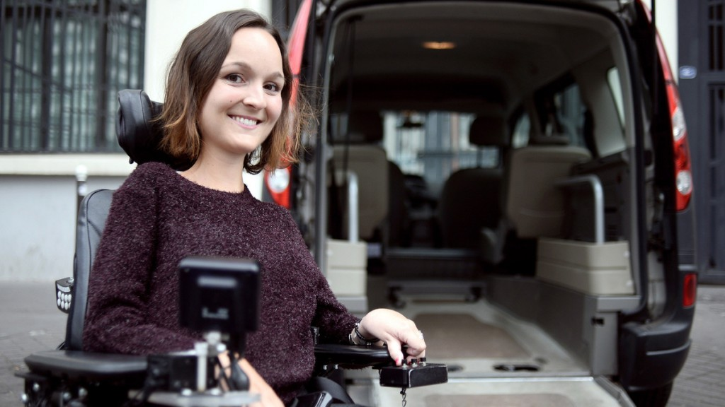 "TO GO WITH AN AFP STORY BY PASCALE JUILLIARD Charlotte de Vilmorin poses on April 28, 2015 in Paris. Faced with the reality from an early age, and especially when she entered the workforce, that transportation for a disabled person was not easy, Charlotte de Vilmorin, 25-years-old, has just launched a web site ""wheeliz.com"" that specialises in the renting of vehicles adapted for disabled people, between private individuals. AFP PHOTO / STEPHANE DE SAKUTIN        (Photo credit should read STEPHANE DE SAKUTIN/AFP/Getty Images)"