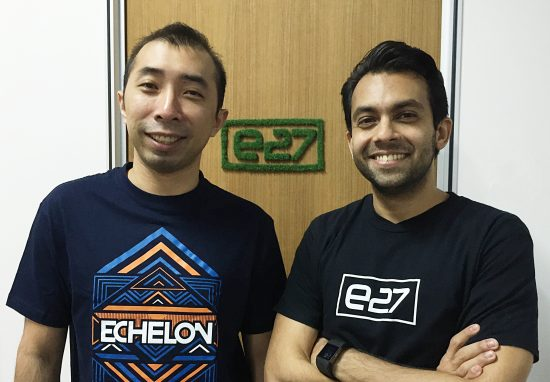 e27 Co-Founders Thaddeus Koh (left) and Mohan Belani (right)